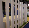 BIBA Cricket theme with inflatable game and real grass created a lively inviting stand.