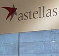 Oncology Exhibition stand shared between two destinctive product areas under Astellas overall branding.