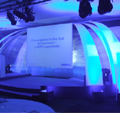 MITIE Awards Stage set designed for daytime conference and evening awards event.
