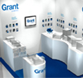 Exhibition kit Grant required a versatile custom designed kit to display their variety of products in addition to being able to easily erect and dismantle the stand themselves.