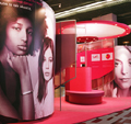 Cervarix Exhibition stand to build brand awareness using colours and marketing images prior to the product launch.